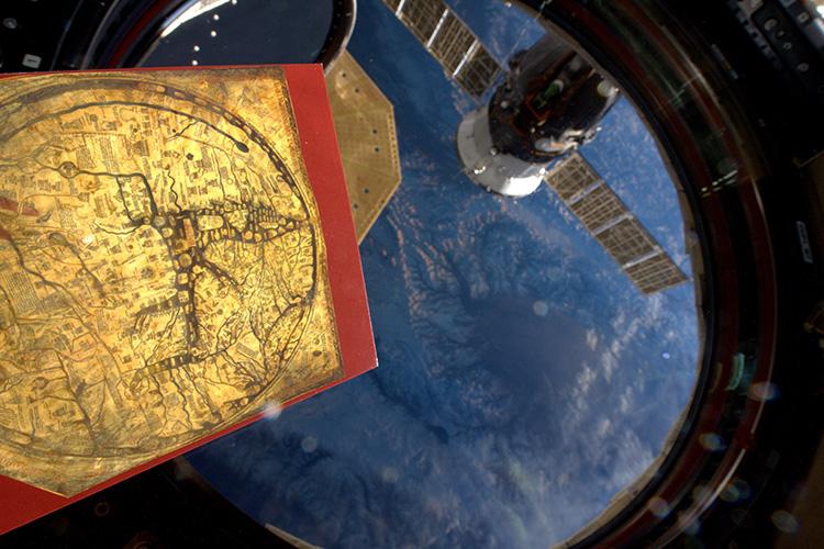 Ancient and modern: Tim Peake's photograph. © ESA / NASA