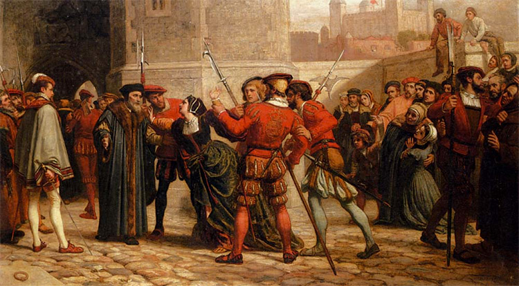 William Frederick Yeames, The meeting of Sir Thomas More with his daughter after his sentence of death, 1872.