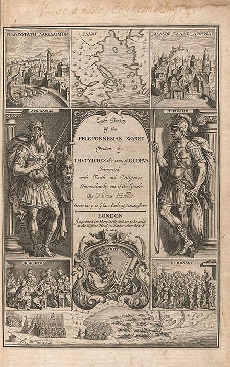 Thomas Hobbes' book on the Peloponnesian War