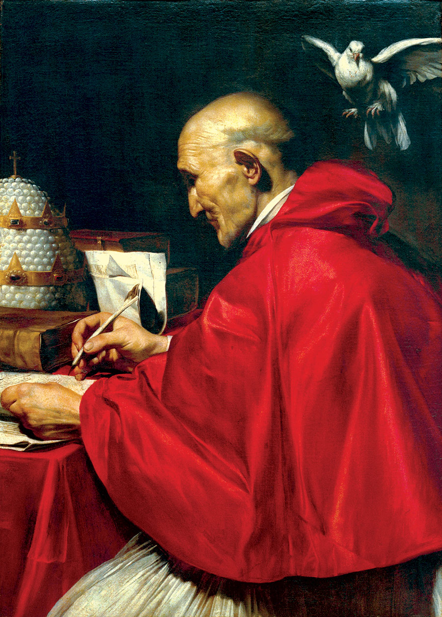 'Illiterate men can contemplate in the lines of a picture': Gregory the Great, attributed to Carlo Saraceni, c.1610.