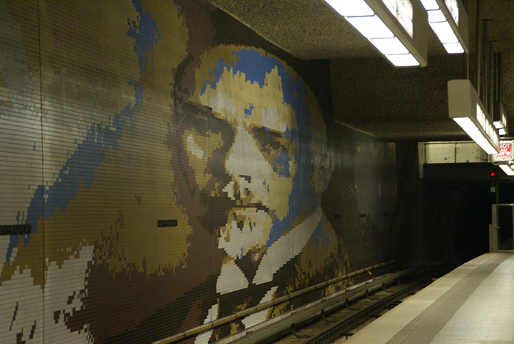 Portrait of Walther Rathenau at Rathenauplatz station, Nuremberg (c) Patrik M. Loeff