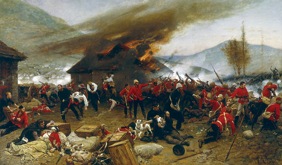 Celebrated memory: The Defence of Rorke's Drift, by Alphonse Marie de Neuville, 1880.