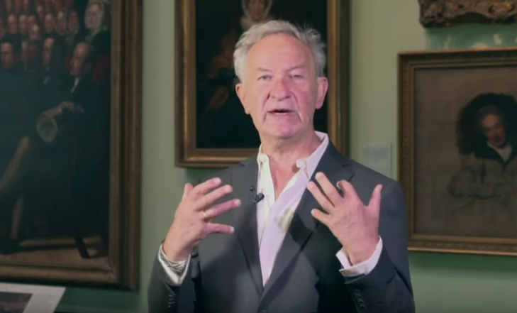 Simon Schama presenting 'Faces of Britain'.