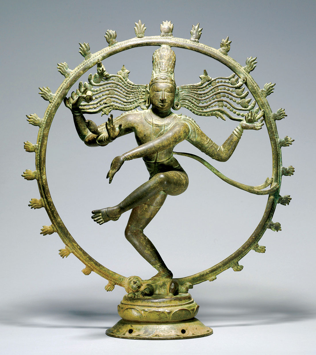 Touching the divine: Shiva as Lord of the Dance, bronze, Chola period, 10th-11th century.
