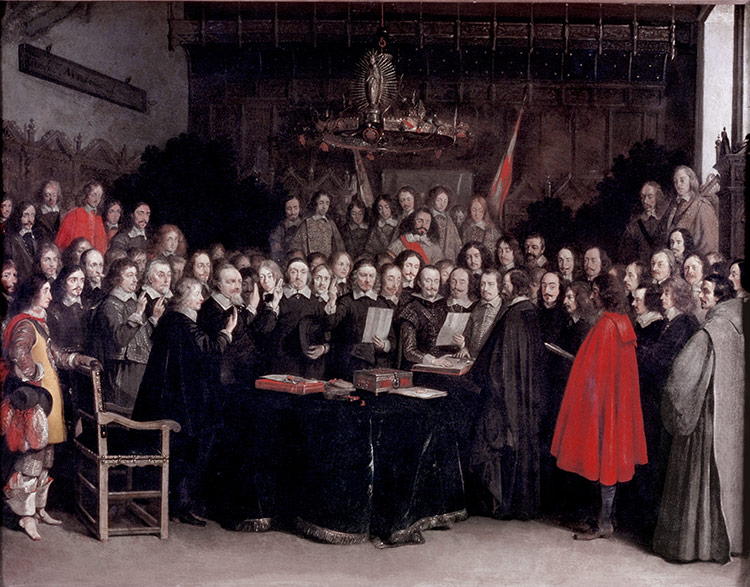 The Swearing of the Oath of Ratification of the Treaty of Münster, 1648, by Gerard ter Borch