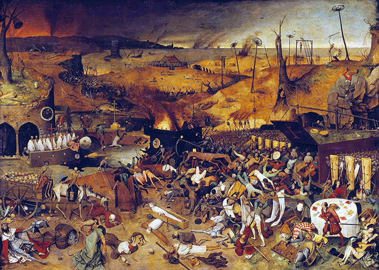 The worst? The Triumph of Death by Pieter Bruegel the Elder, c.1562