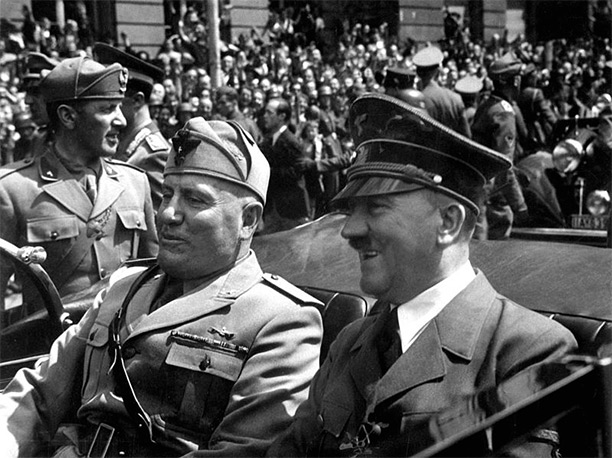 Hitler and Mussolini in 1940