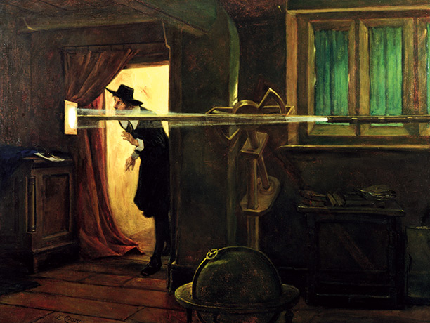 'The Founder of English Astronomy', a painting by Eyre Crowe of 1891 imagines Horrocks at the moment he witnessed the transit of Venus.