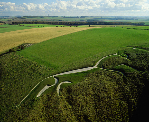 The Uffington Horse, Oxfordshire, dates from the Bronze Age. Corbis/Skyscan