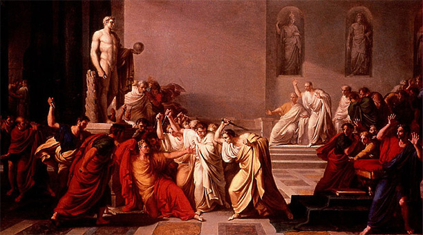 The Death of Caesar (1798) by Vincenzo Camuccini