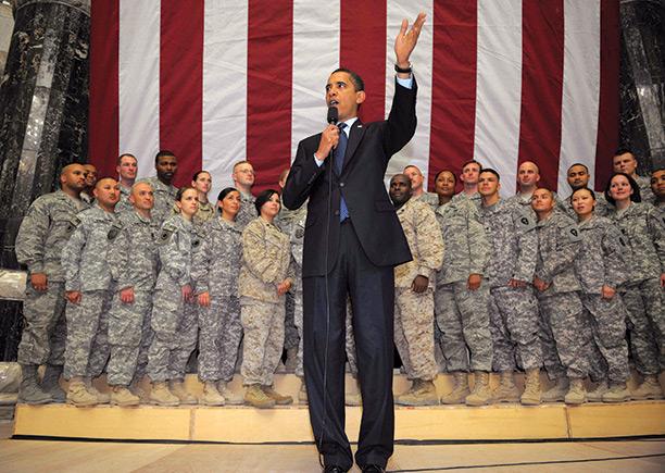 Pragmatic President Barack Obama Speaking At Camp Victory Baghdad In April 2009 Getty