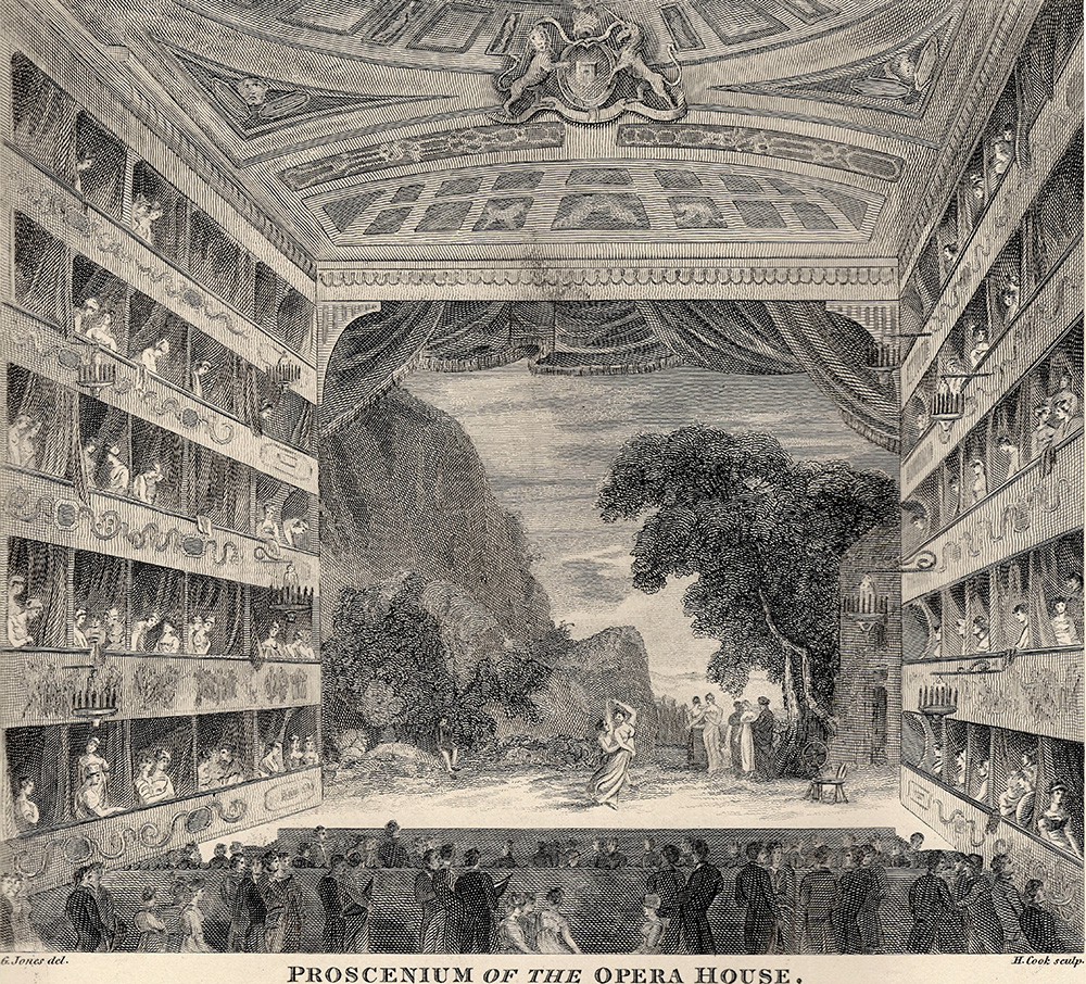 King's Theatre/Her Majesty's Theatre, early 19th century, author's collection.