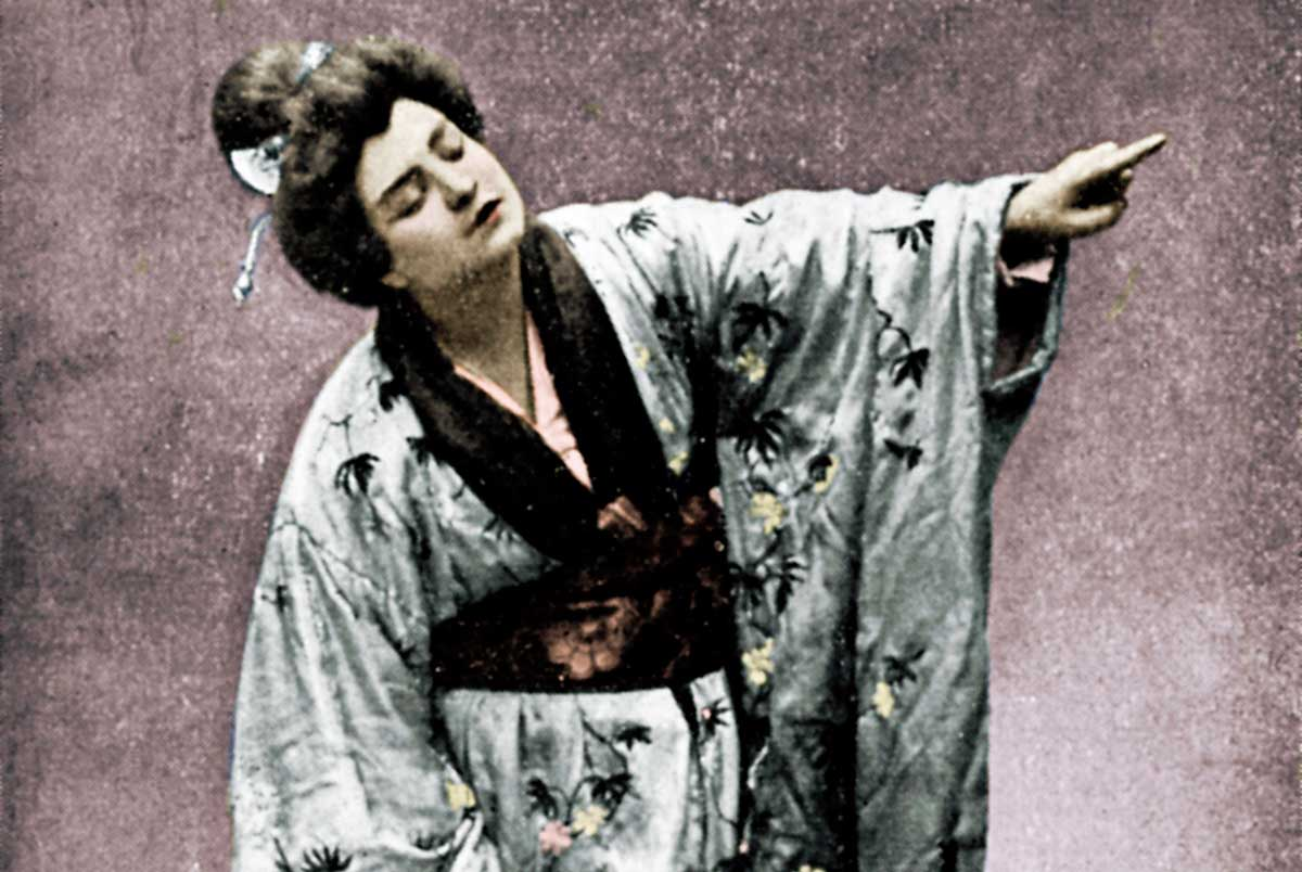 Rosina Storchio in the first production of  Madam Butterfly at  La Scala, Milan, 1904.