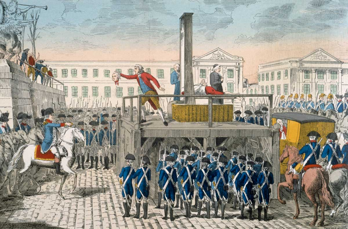 The Execution of Louis XVI, 1793, 18th-century coloured engraving © akg-images.