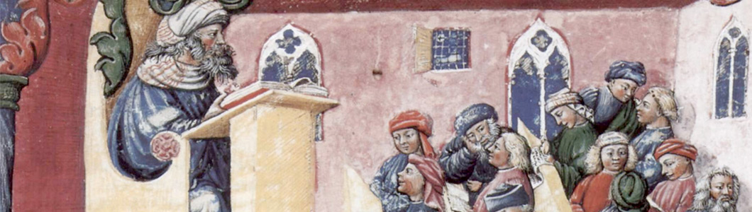 A university class, (1350s).