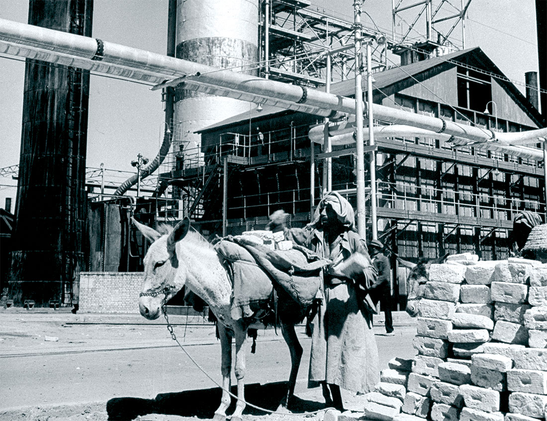 The Anglo-Iranian Oil Company refinery, Abadan, 1945.