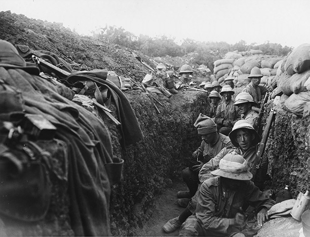 5th Battalion Royal Irish Fusiliers in the trenches at Gallipoli, 1915
