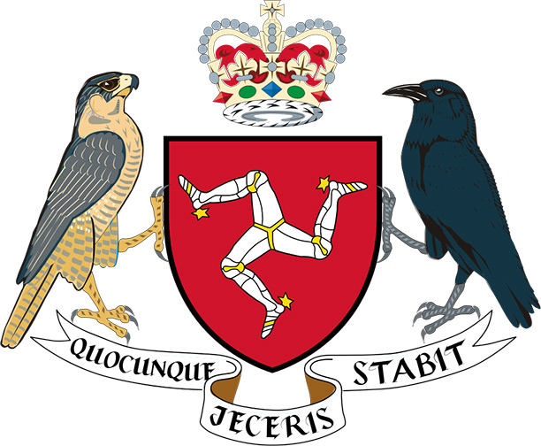 Stable entity: The Isle of Man's coat-of-arms, adopted in the 13th century, with the motto: 'Whichever way you throw me, I will stand.'