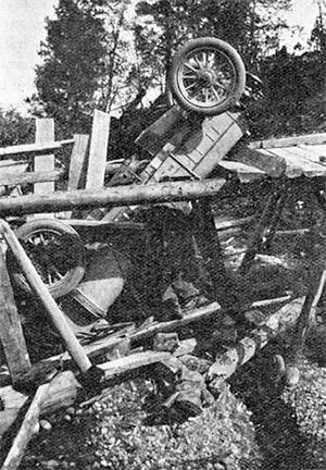 The Itala, after falling through a bridge