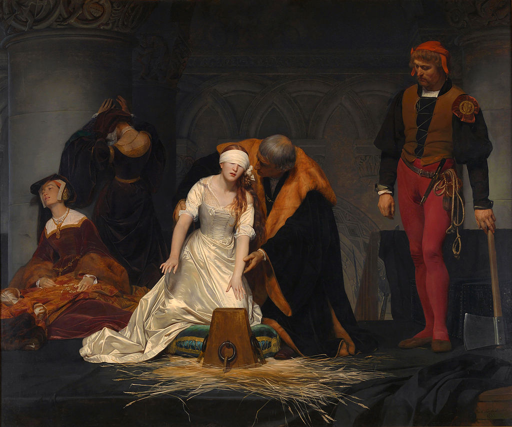 The Execution of Lady Jane Grey, by the French painter Paul Delaroche, 1833