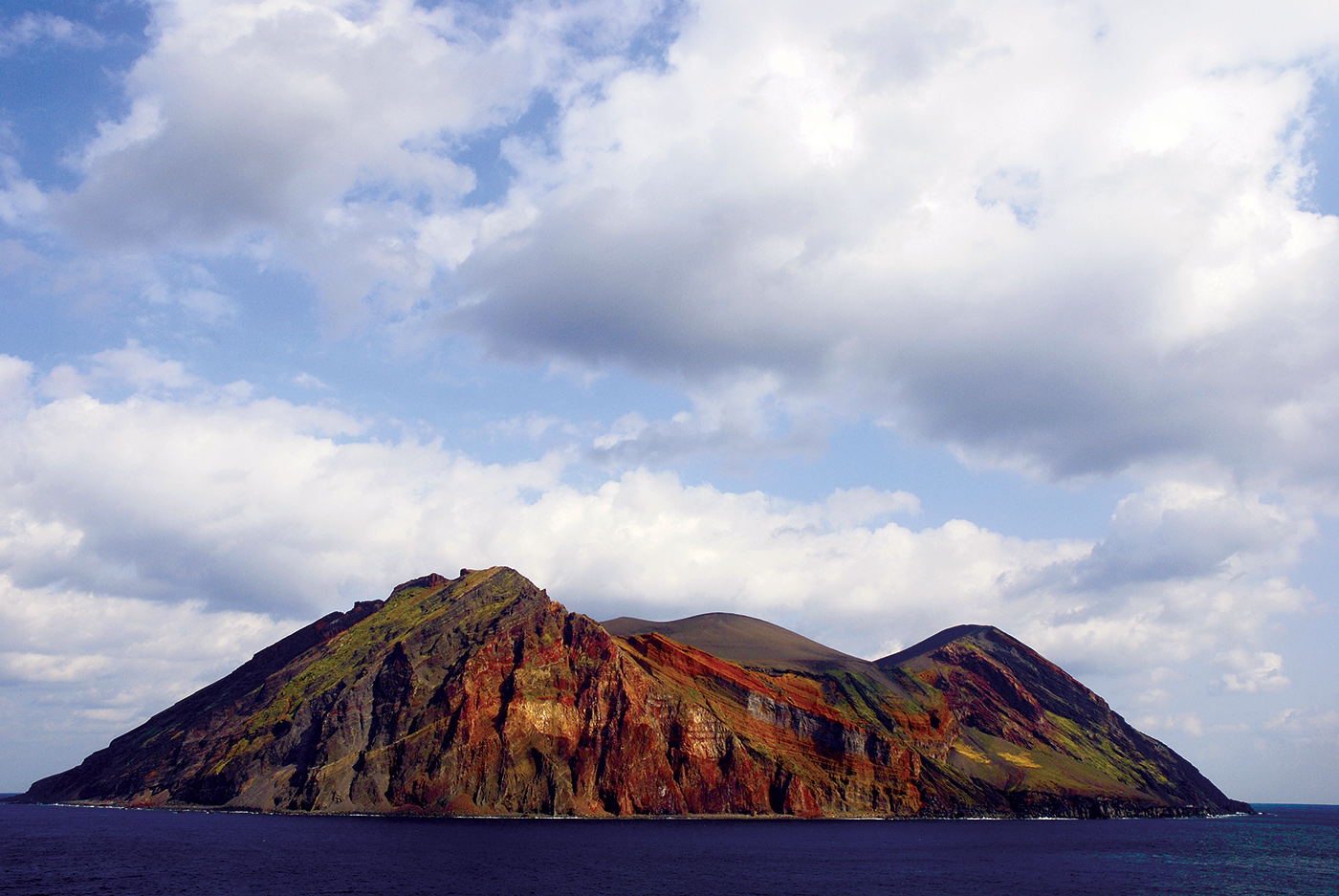 Approaching the island of Torishima.