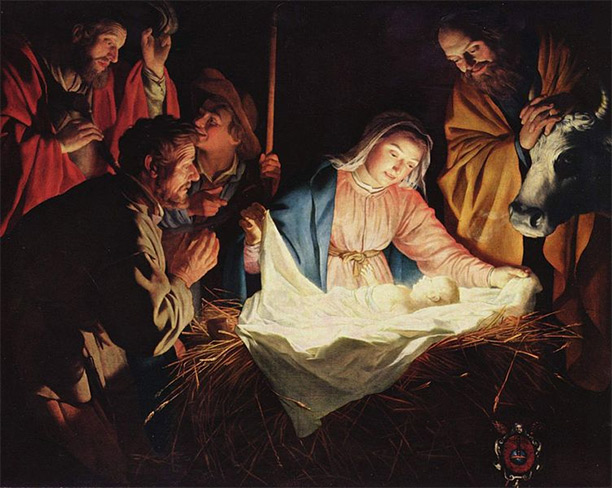 The Adoration of the Shepherds, Gerard van Honthorst, 1622