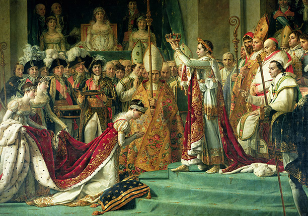Napoleon crowns Joséphine de Beauharnais of France in Notre Dame Cathedral, Paris, December 2nd 1804