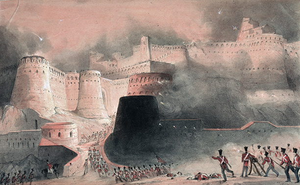 Past precedent: 'The Storming of Kabul Gate in 1839', a 19th century illustration