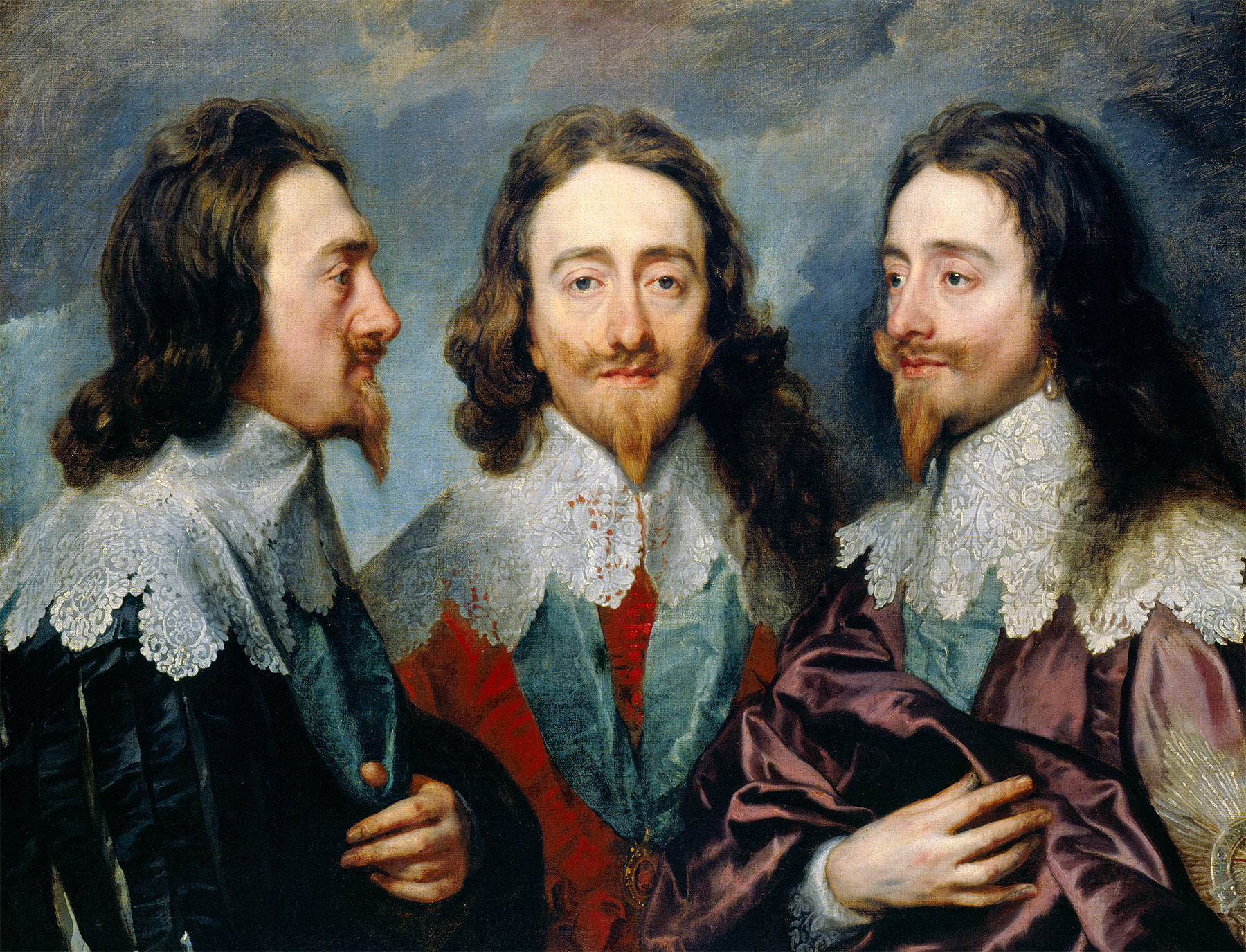 Charles I in Three Positions by van Dyck, 1635–36.