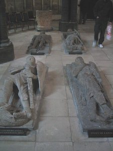 Effigies of medieval knights in Temple Church, London