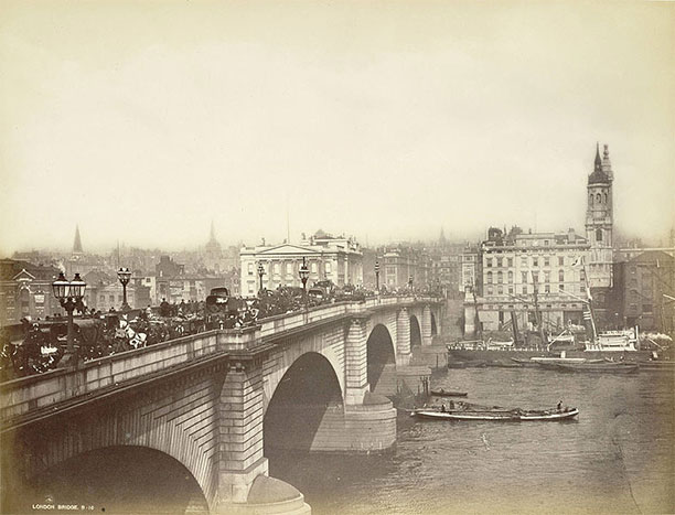 London Bridge in the late 19th century