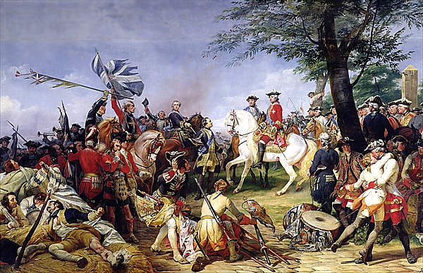 Louis XV at the Battle of Fontenoy