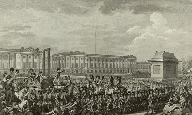 Execution of Louis XVI in the Place de la Révolution