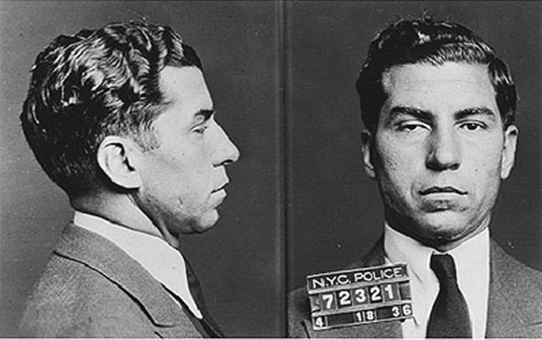 "Mugshot of Charles ""Lucky"" Luciano from 1936"