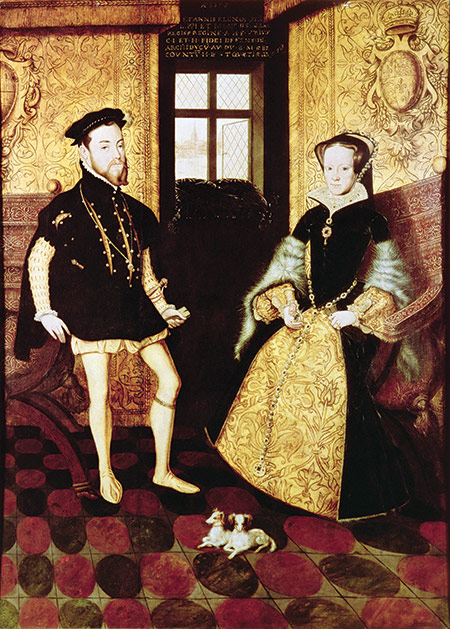 Heir hunters: Philip II and Mary I, 1558 by Hans Eworth, 16th century