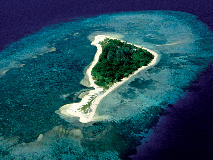 Aerial view, The Duke of York Islands.