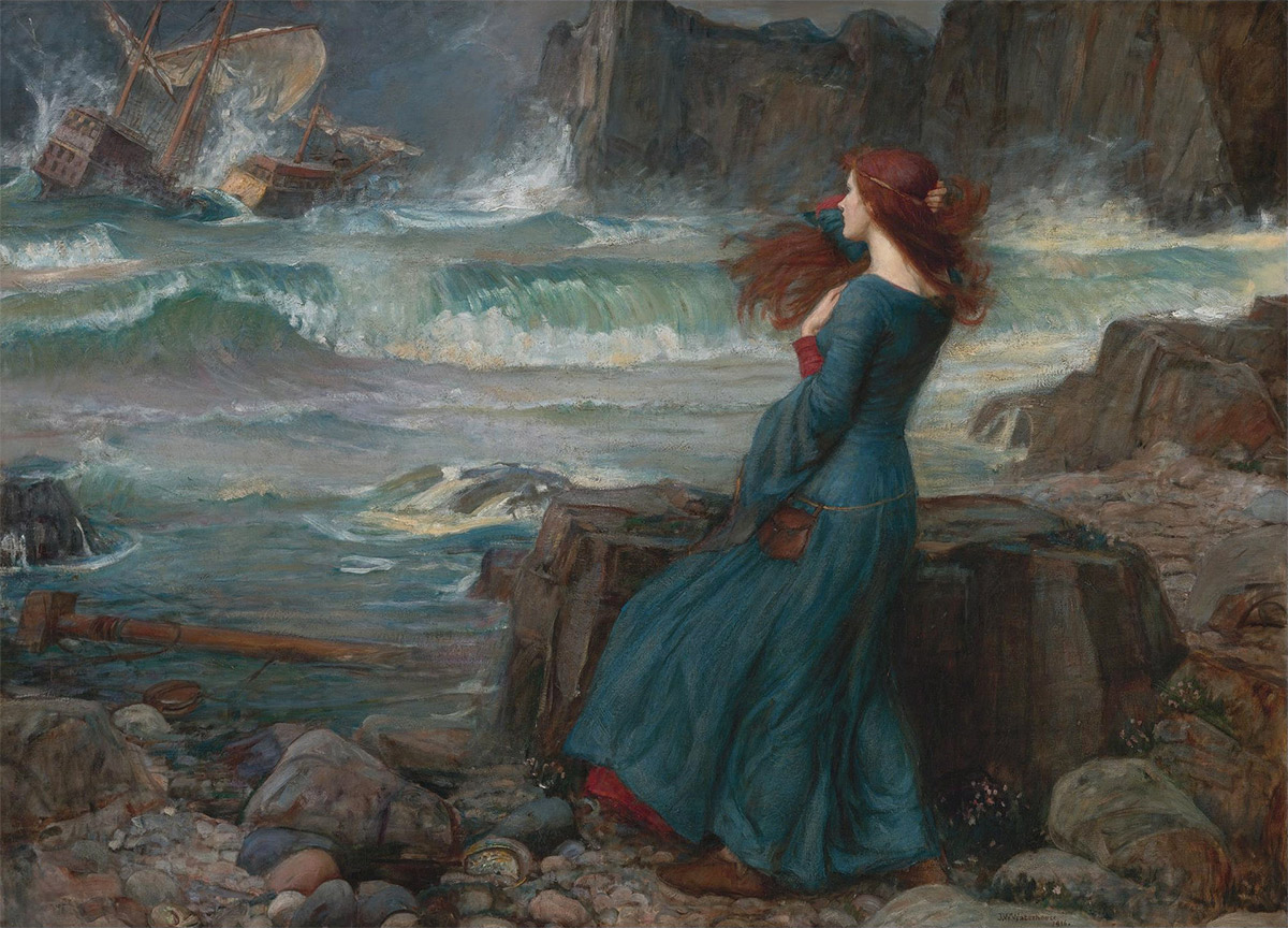 Miranda by John William Waterhouse.