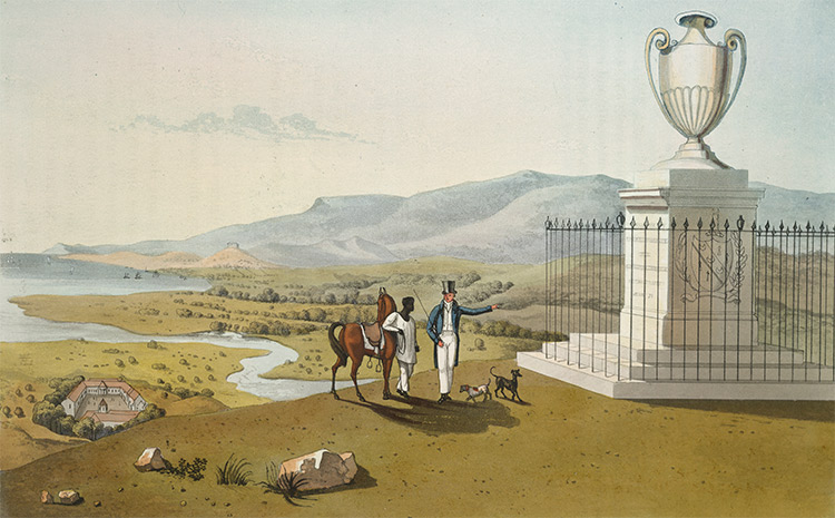 Monument of the late Thos. Hibbert Esq in Jamaica, by James Hakewill, 1825.