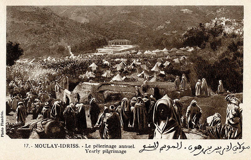 Annual pilgrimage at Moulay Idriss, c.1910.