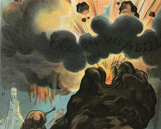 'An Eruption of Mount Teddy', an illustration from the US magazine 'Puck', May 1906