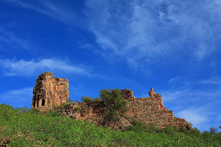 The ruins of Nandana fort in the Punjab, where al-Biruni carried out his measurements of the Earth