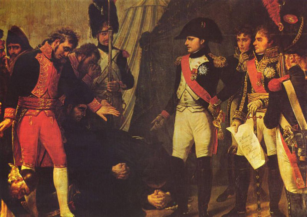 Surrender of Madrid (Gros), 1808. Napoleon enters Spain's capital during the Peninsular War