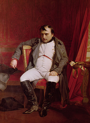 Desperate: Napoleon, portrayed following his abdication in 1814 by Delaroche. Vente notice