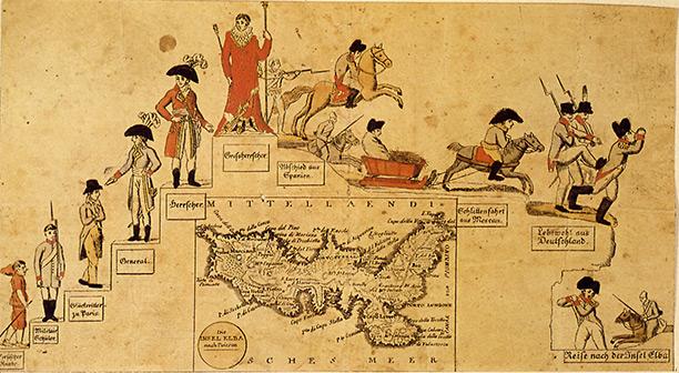 Napoleon on Elba, 1814