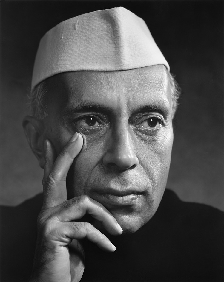 Nehru photographed in 1956 by Karsh of Ottawa.