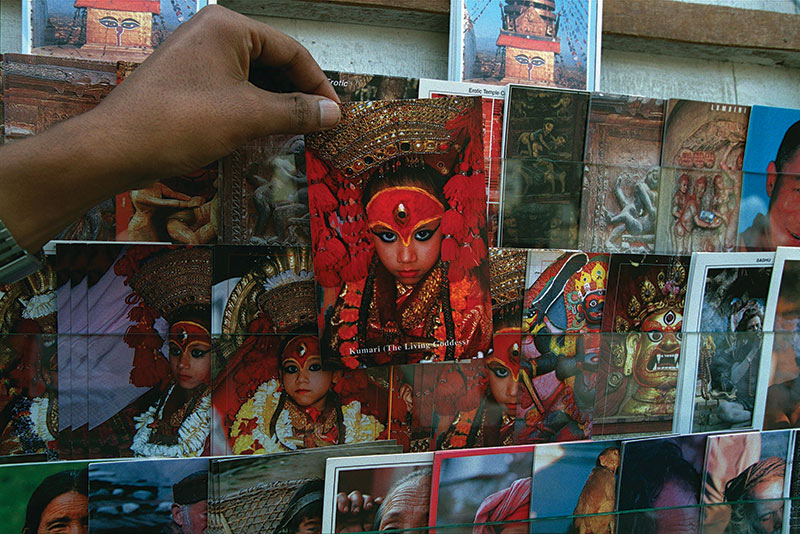 Postcards of the Royal Kumari, Anita Shakya, September 1999.