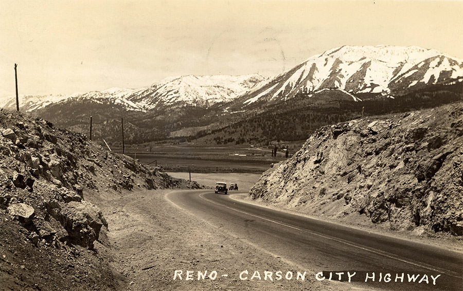Highway between Reno and Carson City, c.1942.