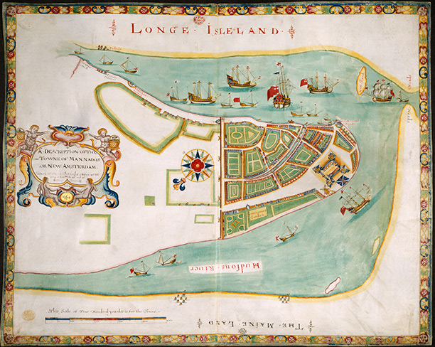 A plan of New Amsterdam, 1661