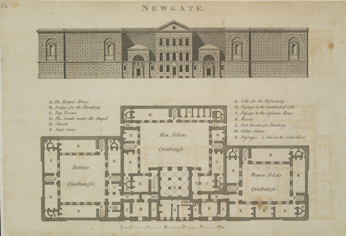 A plan of Newgate Prison published in 1800