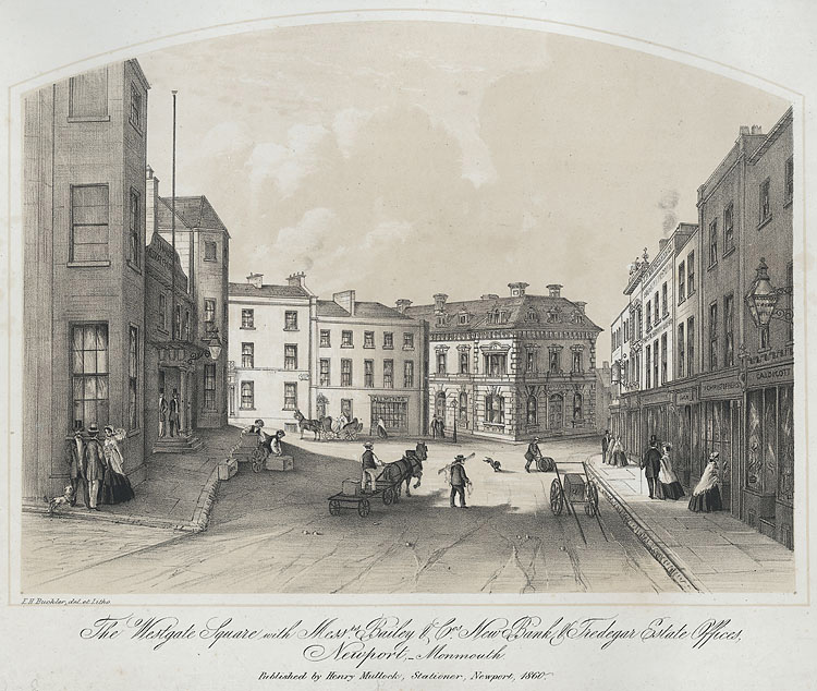 The Westgate Square, Newport, 1860.